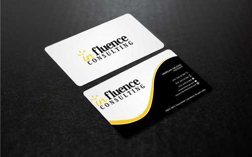 Influence Consulting Business Cards and Stationery  Draft # 257 by Dawson
