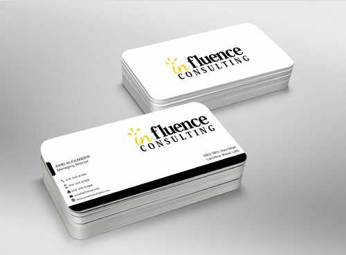 Influence Consulting Business Cards and Stationery  Draft # 258 by Dawson