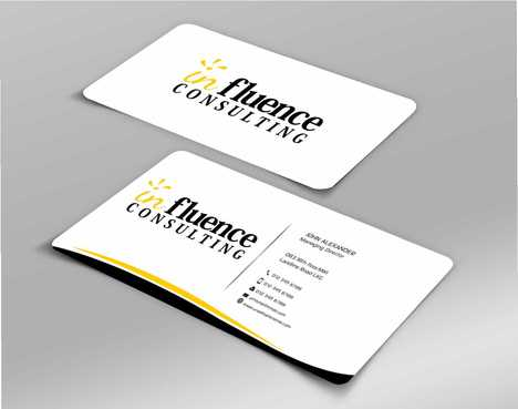 Influence Consulting Business Cards and Stationery  Draft # 262 by Dawson
