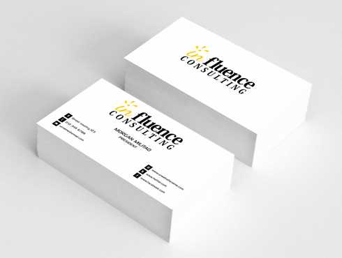 Influence Consulting Business Cards and Stationery  Draft # 263 by Dawson