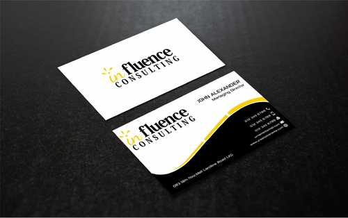 Influence Consulting Business Cards and Stationery  Draft # 265 by Dawson