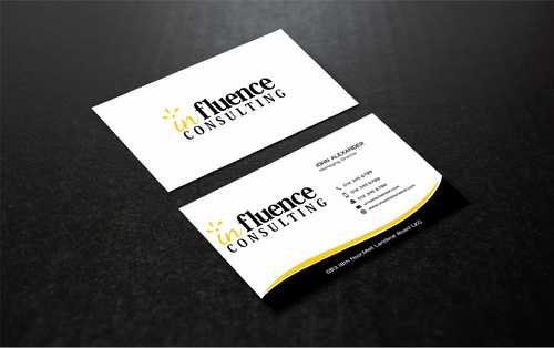 Influence Consulting Business Cards and Stationery  Draft # 266 by Dawson