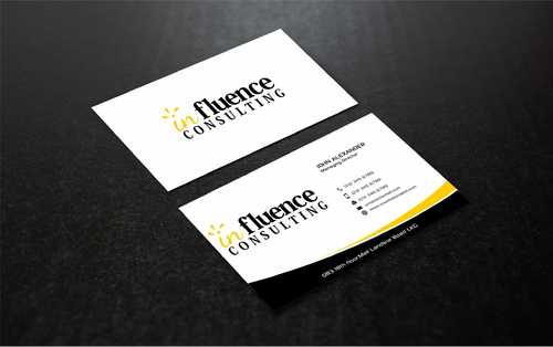 Influence Consulting Business Cards and Stationery  Draft # 267 by Dawson