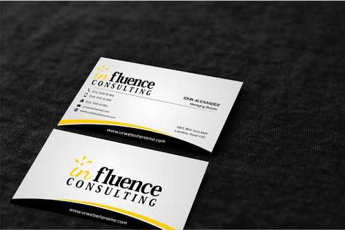 Influence Consulting Business Cards and Stationery  Draft # 269 by Dawson