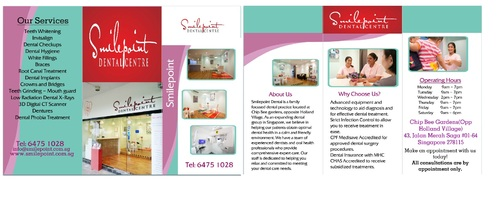 Smilepoint Dental Centre Marketing collateral  Draft # 5 by rockerss13