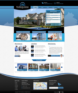 VA Builders, Inc. Complete Web Design Solution Winning Design by jogdesigner