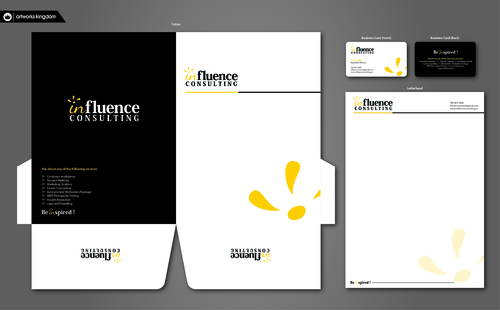 Influence Consulting Business Cards and Stationery  Draft # 289 by ArtworksKingdom