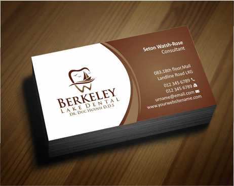 Berkeley Lake Dental LLC Business Cards and Stationery  Draft # 162 by Dawson