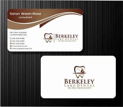 Berkeley Lake Dental LLC Business Cards and Stationery  Draft # 168 by Dawson