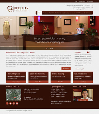 Berkeley Lake Dental Complete Web Design Solution  Draft # 154 by radhey