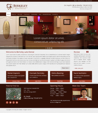 Berkeley Lake Dental Complete Web Design Solution  Draft # 155 by radhey