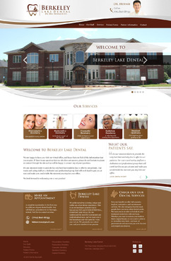 Berkeley Lake Dental Complete Web Design Solution  Draft # 164 by pixeldimension