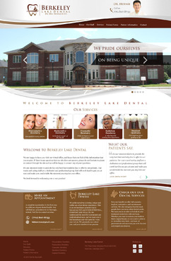 Berkeley Lake Dental Complete Web Design Solution Winning Design by pixeldimension