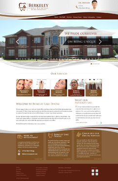 Berkeley Lake Dental Complete Web Design Solution  Draft # 167 by pixeldimension