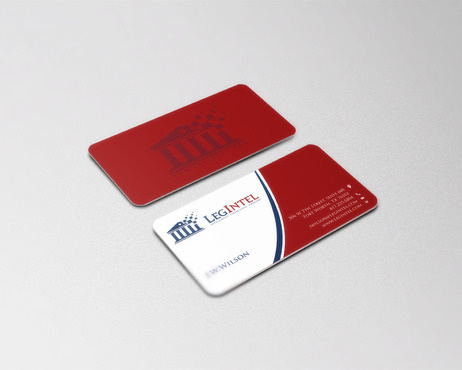 Legintel Business Cards and Stationery Winning Design by cre8ivebrain