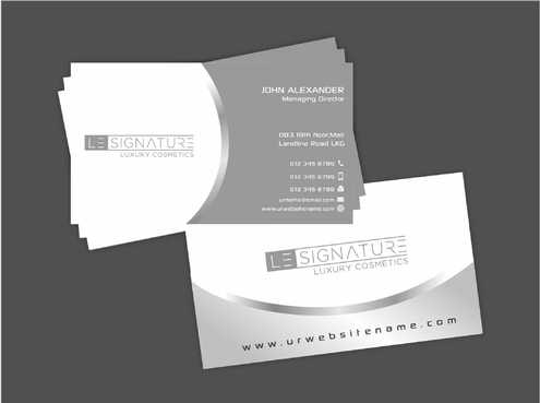 Modern, Luxurious Business Cards and Stationery  Draft # 105 by Dawson