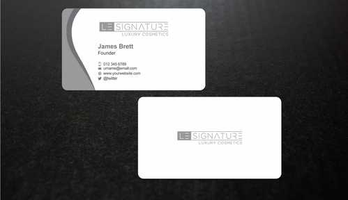 Modern, Luxurious Business Cards and Stationery  Draft # 106 by Dawson