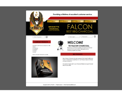 FALCON CHARCOAL Complete Web Design Solution  Draft # 14 by Mbdesigning