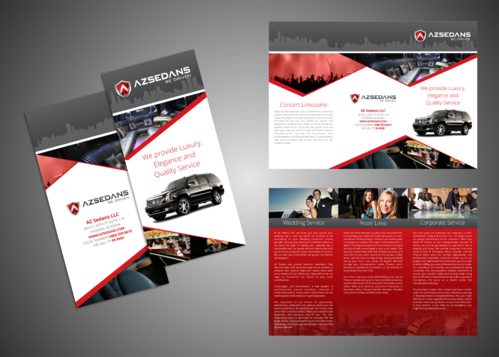 AZ SEDANS BROCHURES Marketing collateral  Draft # 6 by Kaiza