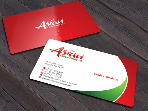 Asian Foods & Produce Distributors, Inc. Business Cards and Stationery  Draft # 13 by Xpert