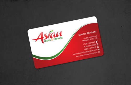 Asian Foods & Produce Distributors, Inc. Business Cards and Stationery Winning Design by einsanimation