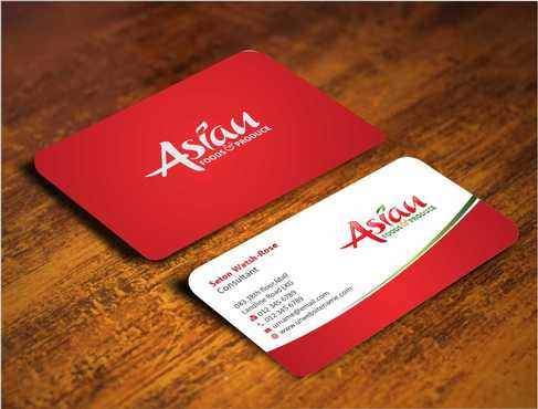 Asian Foods & Produce Distributors, Inc. Business Cards and Stationery  Draft # 309 by Dawson