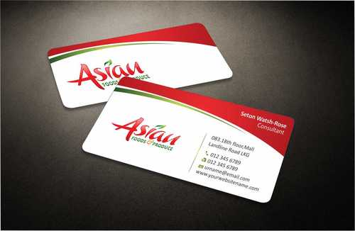 Asian Foods & Produce Distributors, Inc. Business Cards and Stationery  Draft # 310 by Dawson