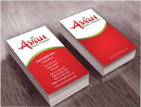 Asian Foods & Produce Distributors, Inc. Business Cards and Stationery  Draft # 311 by Dawson