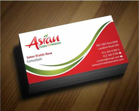 Asian Foods & Produce Distributors, Inc. Business Cards and Stationery  Draft # 315 by Dawson