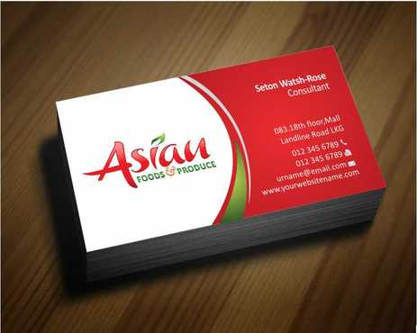 Asian Foods & Produce Distributors, Inc. Business Cards and Stationery  Draft # 316 by Dawson