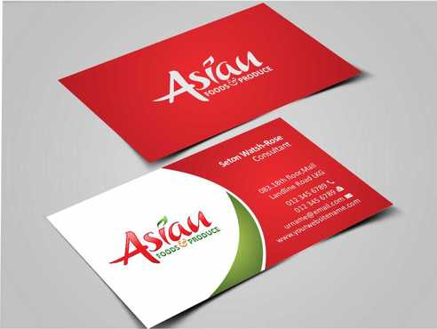 Asian Foods & Produce Distributors, Inc. Business Cards and Stationery  Draft # 317 by Dawson