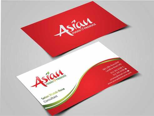 Asian Foods & Produce Distributors, Inc. Business Cards and Stationery  Draft # 318 by Dawson