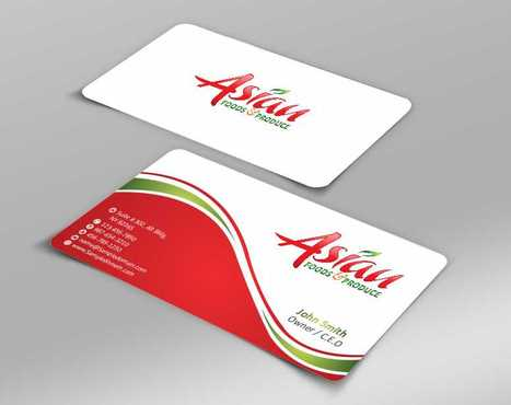 Asian Foods & Produce Distributors, Inc. Business Cards and Stationery  Draft # 320 by Dawson
