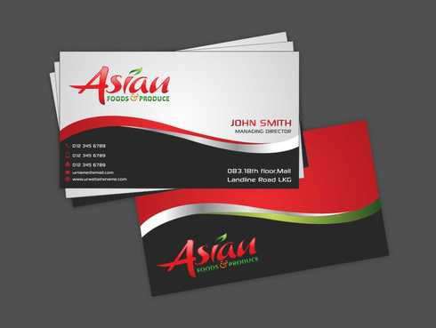 Asian Foods & Produce Distributors, Inc. Business Cards and Stationery  Draft # 326 by Dawson