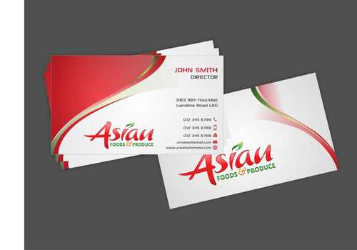 Asian Foods & Produce Distributors, Inc. Business Cards and Stationery  Draft # 327 by Dawson
