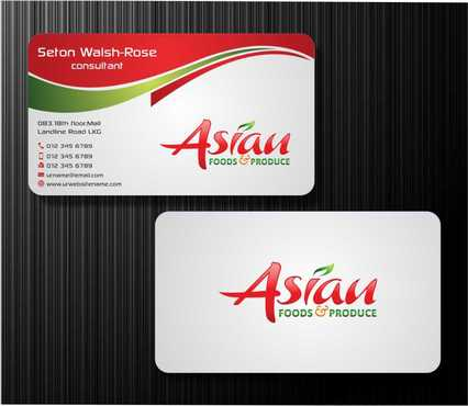 Asian Foods & Produce Distributors, Inc. Business Cards and Stationery  Draft # 328 by Dawson