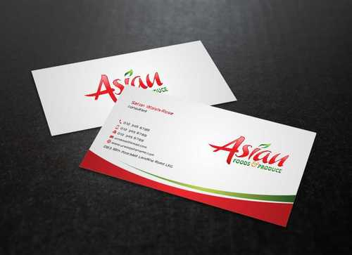 Asian Foods & Produce Distributors, Inc. Business Cards and Stationery  Draft # 329 by Dawson