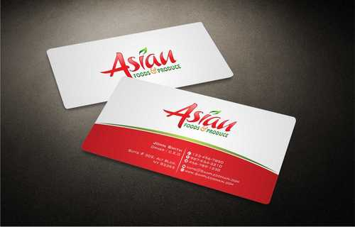 Asian Foods & Produce Distributors, Inc. Business Cards and Stationery  Draft # 331 by Dawson