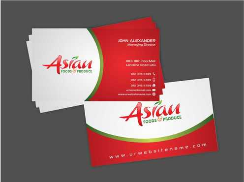Asian Foods & Produce Distributors, Inc. Business Cards and Stationery  Draft # 334 by Dawson