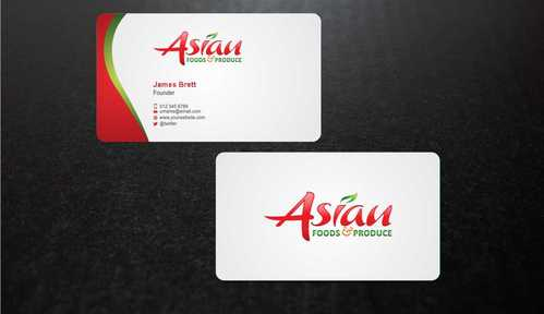 Asian Foods & Produce Distributors, Inc. Business Cards and Stationery  Draft # 336 by Dawson