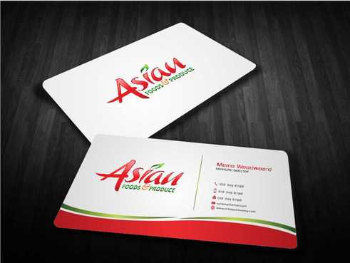Asian Foods & Produce Distributors, Inc. Business Cards and Stationery  Draft # 337 by Dawson