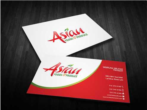 Asian Foods & Produce Distributors, Inc. Business Cards and Stationery  Draft # 339 by Dawson