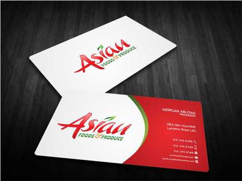 Asian Foods & Produce Distributors, Inc. Business Cards and Stationery  Draft # 340 by Dawson