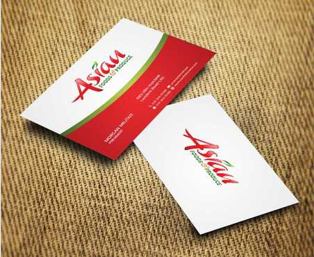 Asian Foods & Produce Distributors, Inc. Business Cards and Stationery  Draft # 342 by Dawson