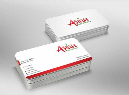Asian Foods & Produce Distributors, Inc. Business Cards and Stationery  Draft # 343 by Dawson