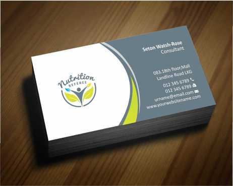 Nutrition Referee Business Cards and Stationery  Draft # 173 by Dawson