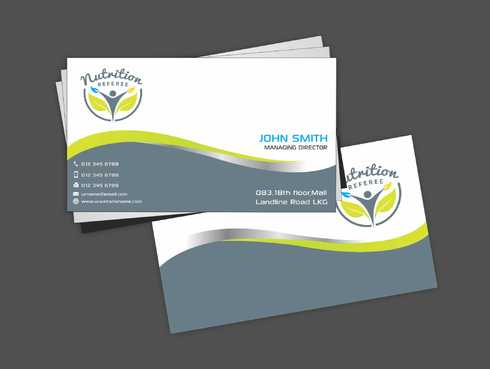 Nutrition Referee Business Cards and Stationery  Draft # 184 by Dawson