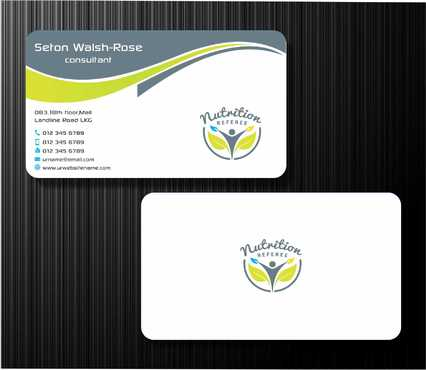 Nutrition Referee Business Cards and Stationery  Draft # 186 by Dawson