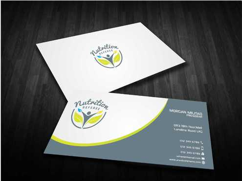 Nutrition Referee Business Cards and Stationery  Draft # 196 by Dawson