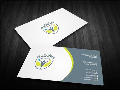 Nutrition Referee Business Cards and Stationery  Draft # 197 by Dawson